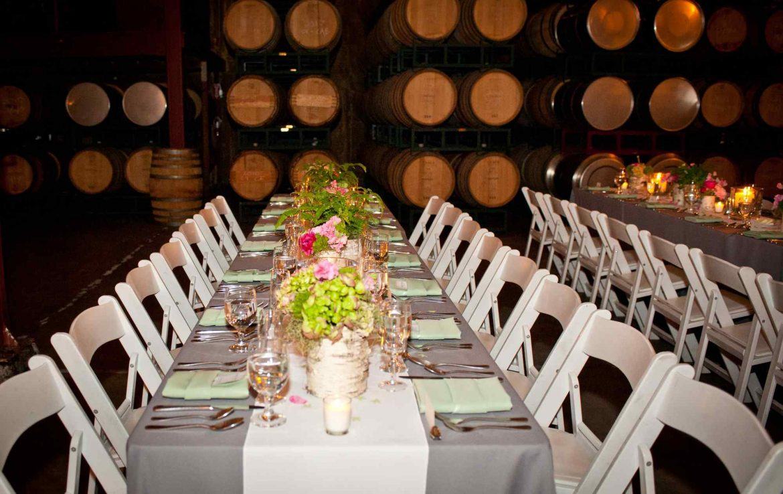 Barrel Room Table Set Up