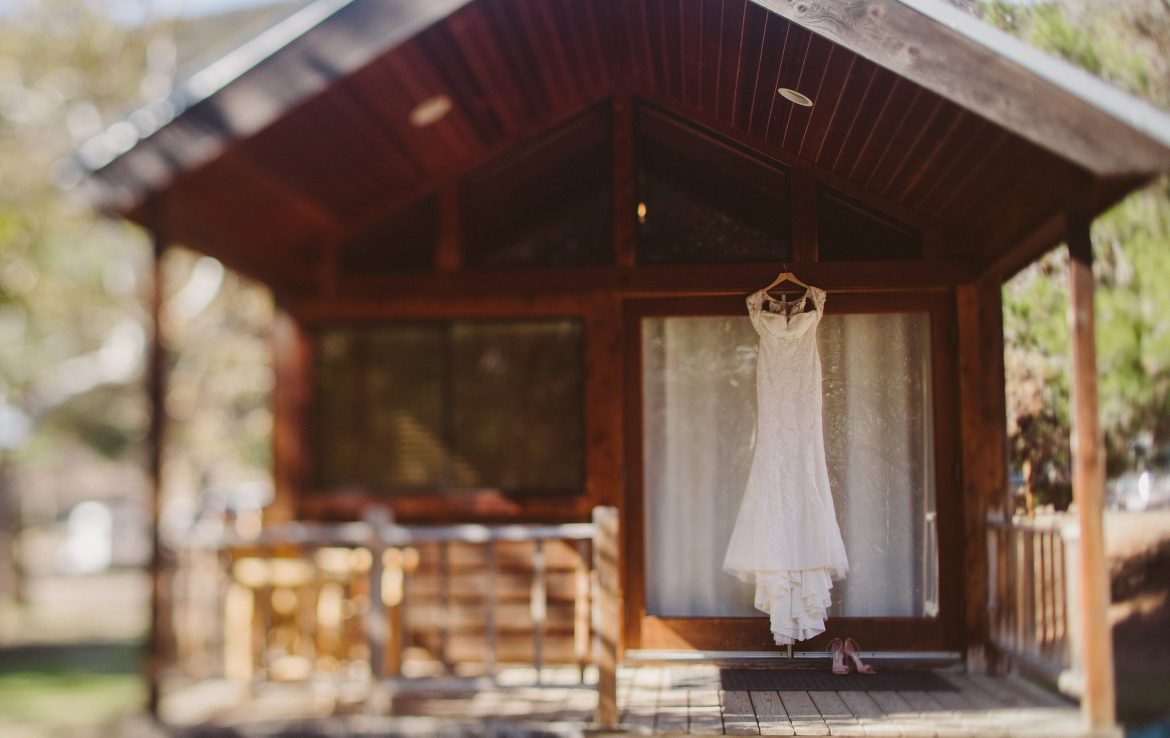 Bridal Gown at the Cabin