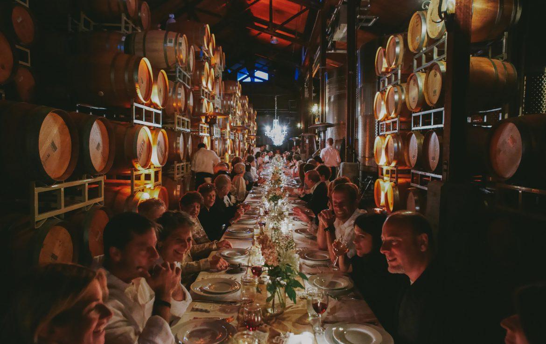 Communal Table Wedding Reception