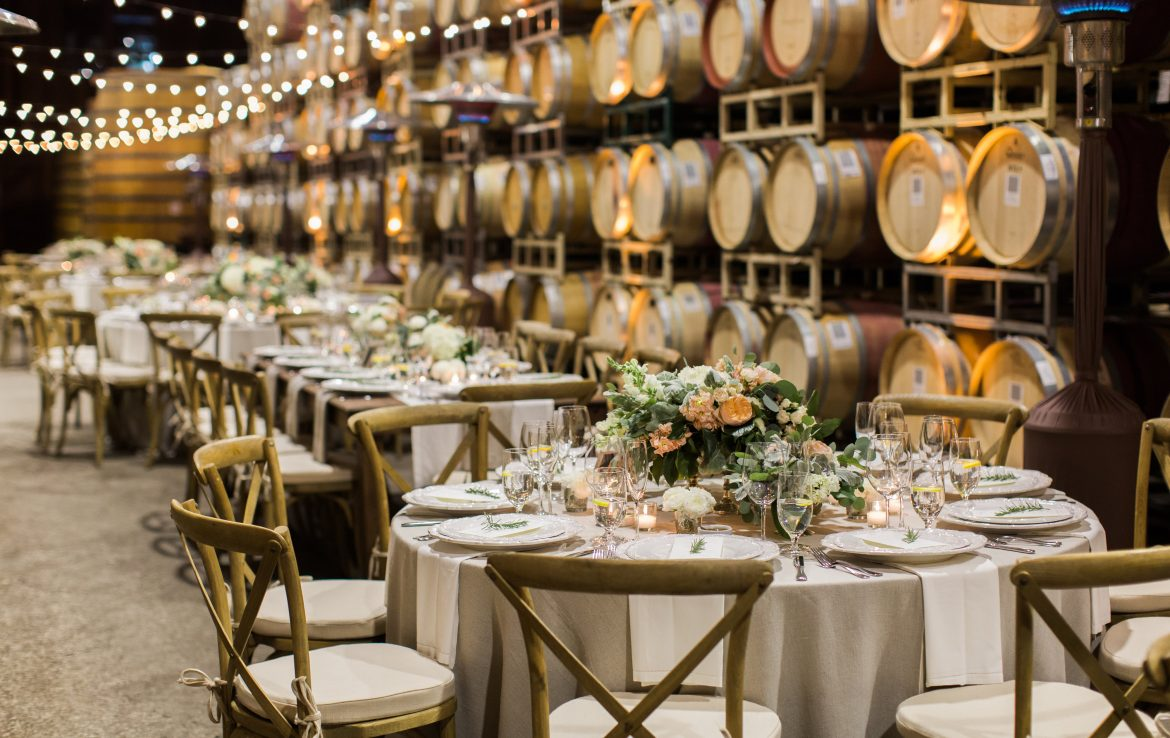 Barrel room Wedding Reception