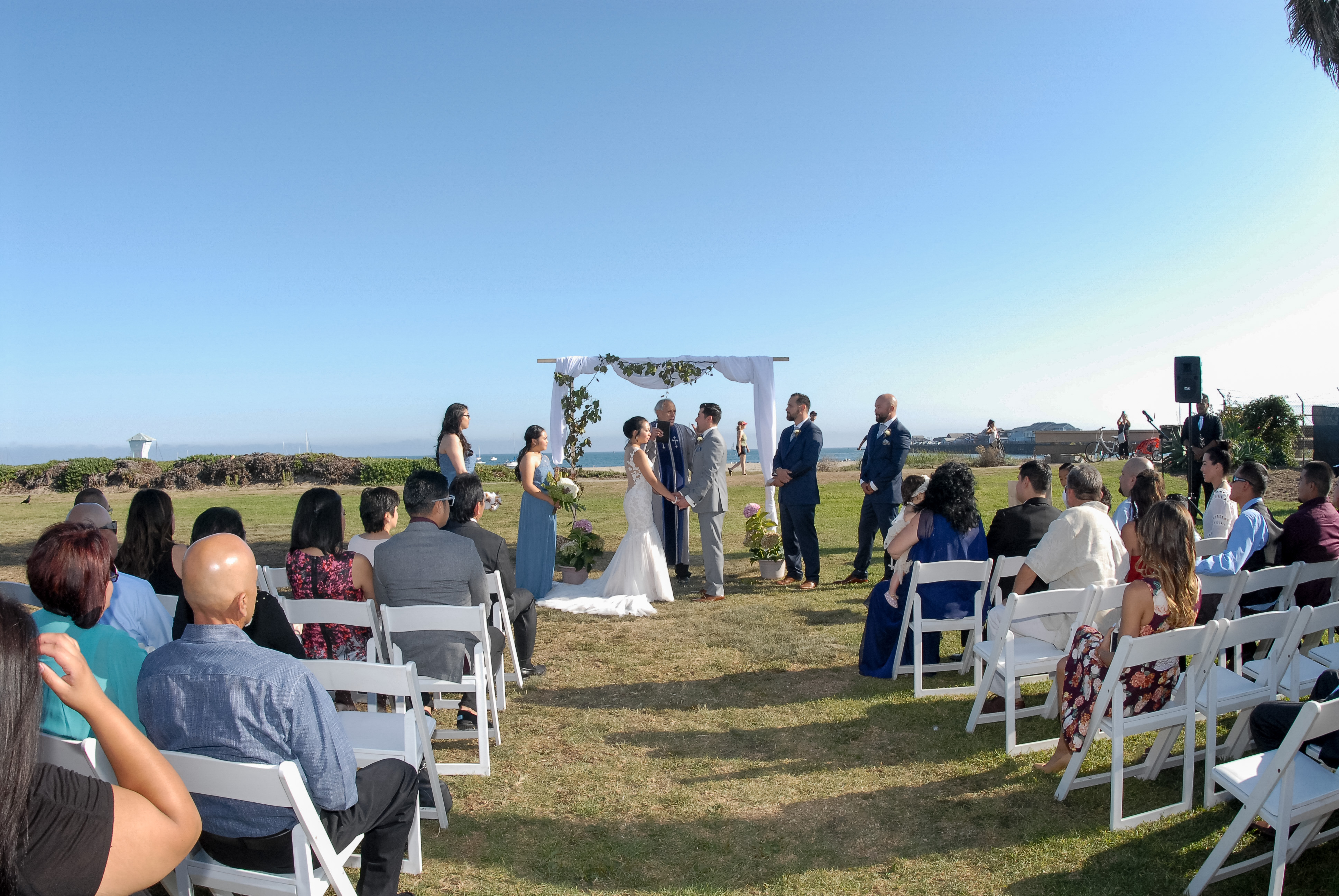 Ceremony with Ocean View