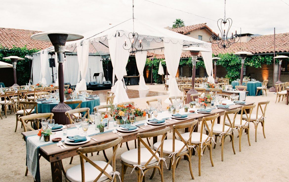 Colorful Reception with Tenting