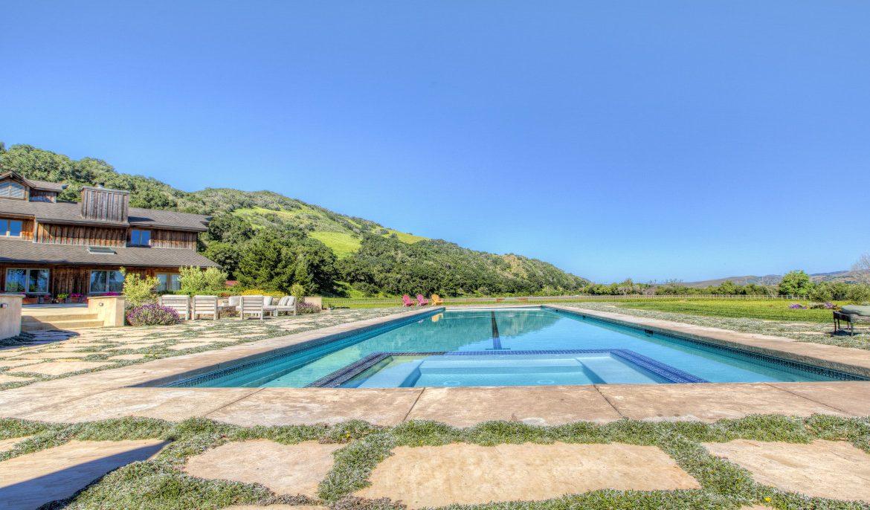 Pool at Private Santa Ynez Ranch
