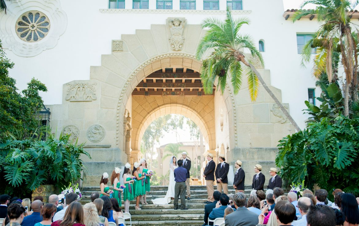Wedding Santa Barbara Courthouse 1100 Anacapa St Ca 93101 Usa