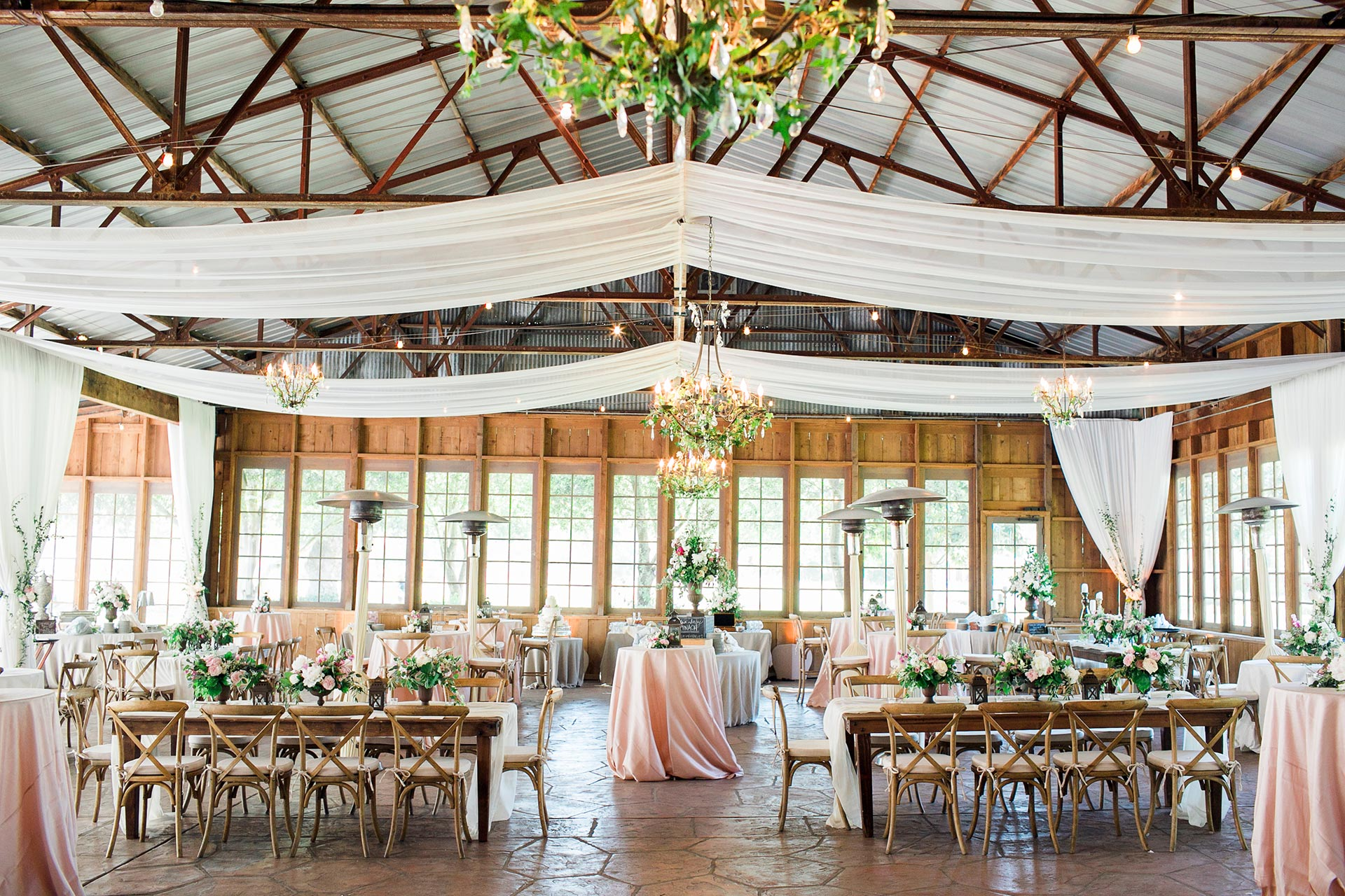 Bright Sunlit Wedding Reception