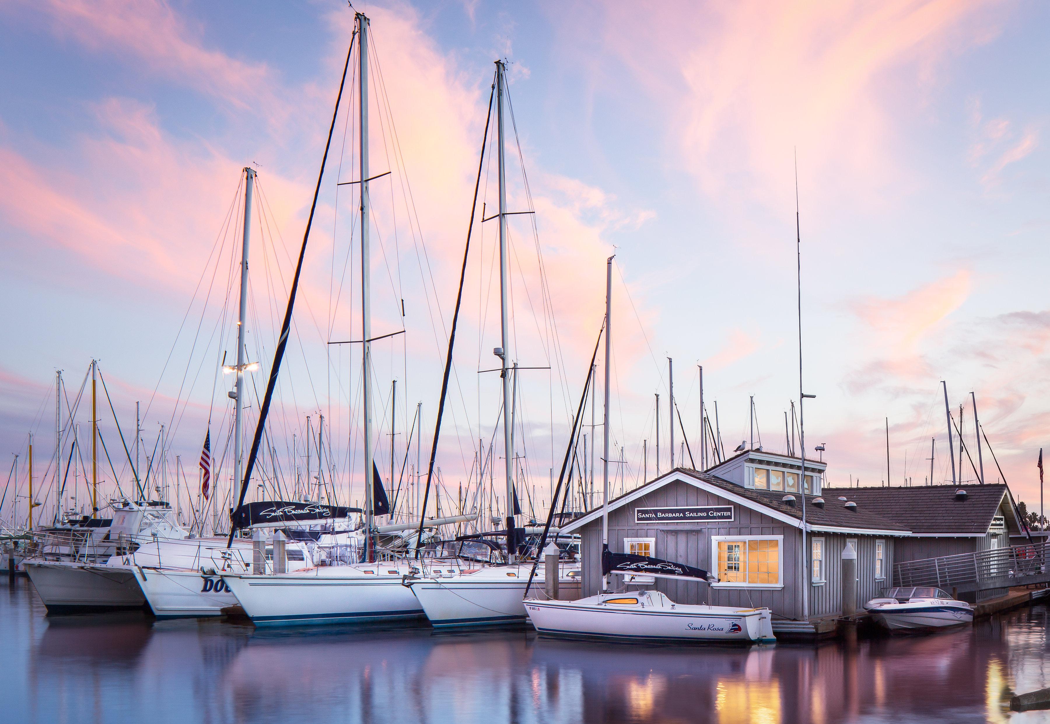 Sunset Skies and Sailboats