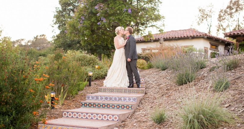Couple on Stairs at Casitas Estate