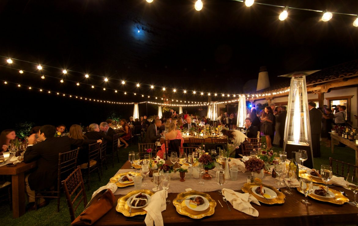 Reception with String Lights
