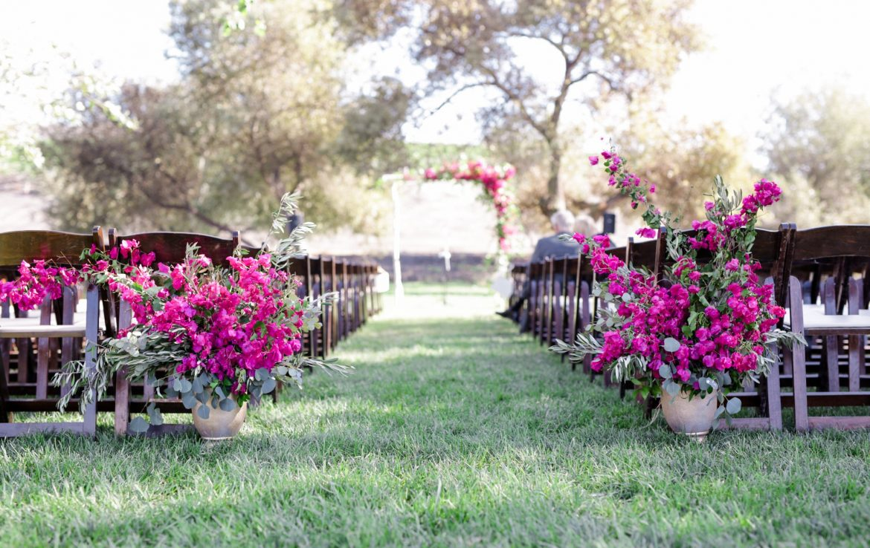 Beautiful Wedding Aisle at Greengate