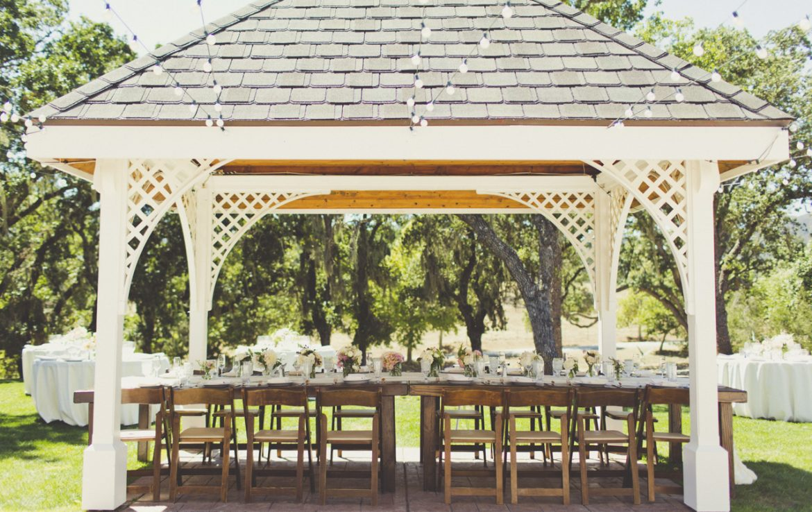 Gazebo with Bridal Party Table