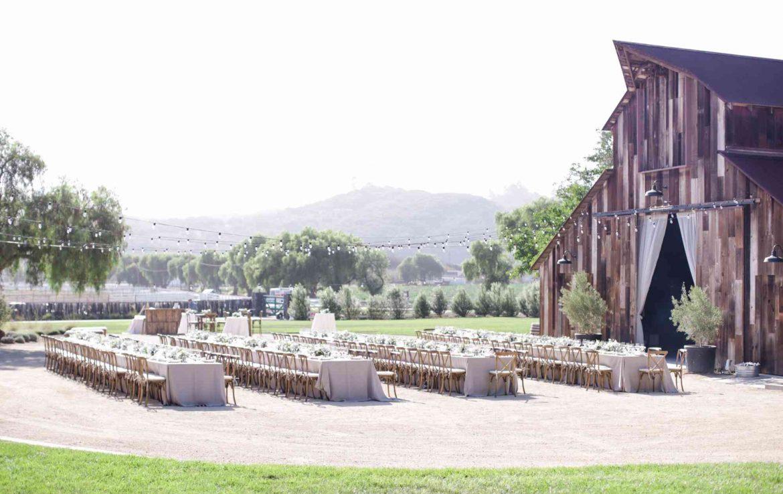 Gorgous Reception Outside of Barn