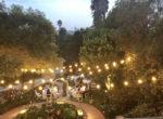 De La Vina Inn - Back Garden wedding with lights
